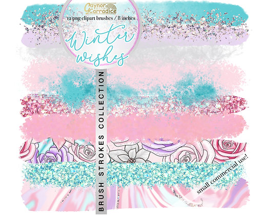 Winter Wishes brush strokes