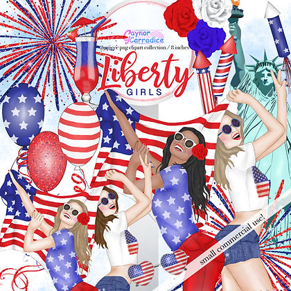 Independence Day Fashion Clipart Collection