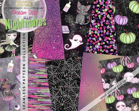 Dream Dollz Halloween Digital Paper Collection