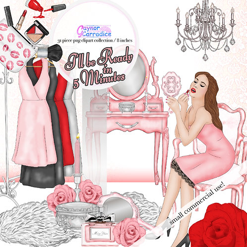 Beauty fashion Clipart Collection