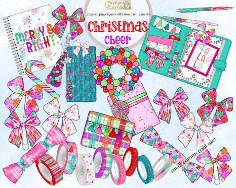 Christmas cheer planner clipart