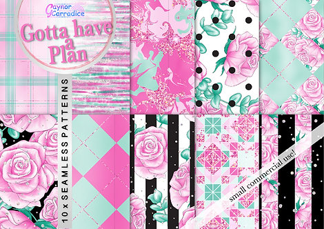 Gotta Have a Plan digital paper collection