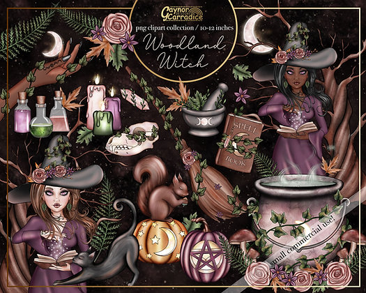 Woodland Witch Clipart