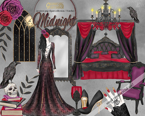 Halloween Fashion Clipart Collection