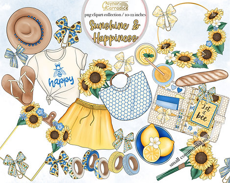 Sunshineand Happiness Planner Clipart