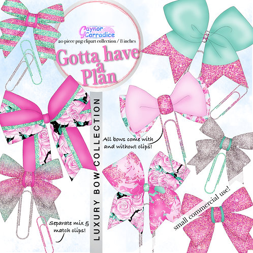 Gotta have a plan Bow Clip collection