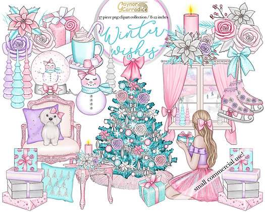 Winter wishes - Christmas clipart