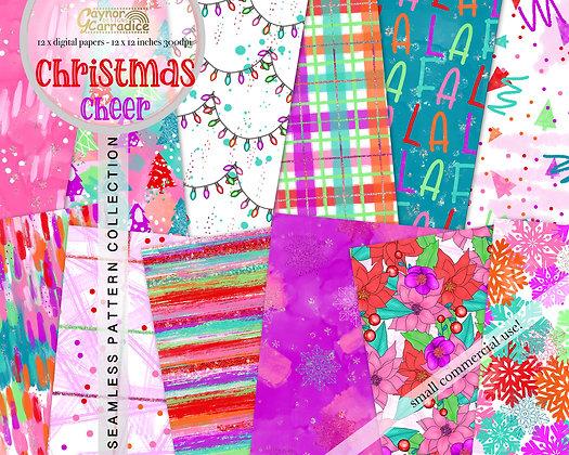 Christmas cheer digital papers