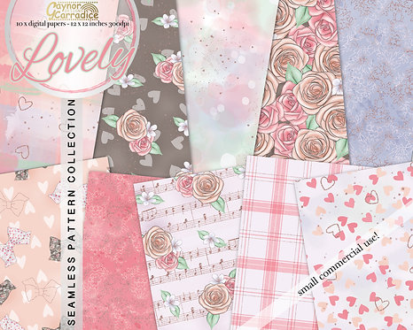 Lovely - valentine seamless pattern collection