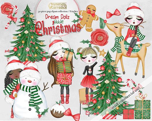 Dream Dollz Little Christmas clipart collection
