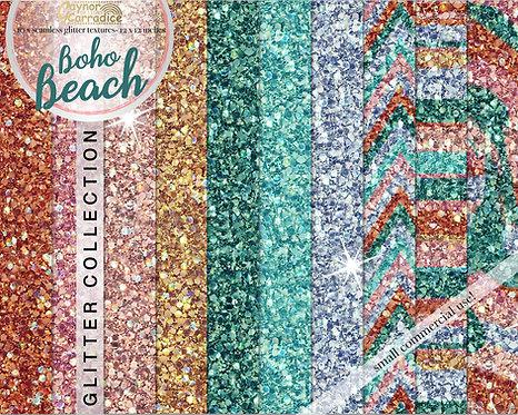 Boho beach glitter backgrounds
