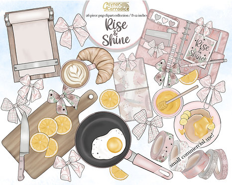 Rise and shine planner clipart