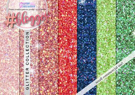 Blogger glitter digital paper collection
