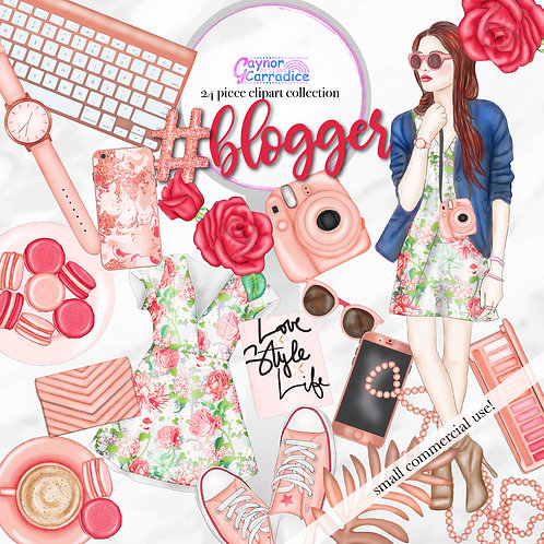 Blogger Clipart Fashion Collection