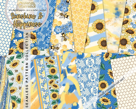 Sunshine and Happiness Digital Papers