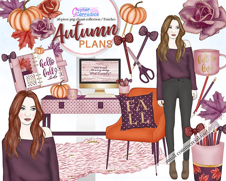 Autumn Planner Clipart Collection