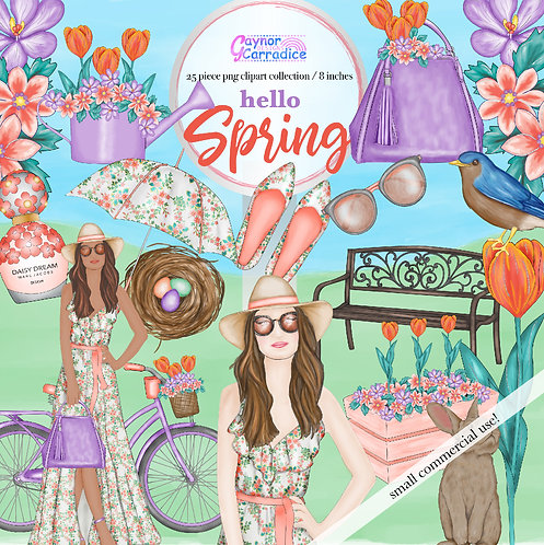 Spring time fashion Clipart Collection