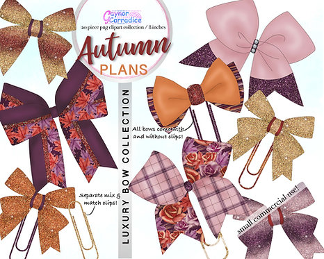 Autumn Plans Bow Clip collection