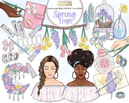 Spring Fresh Planner Clipart