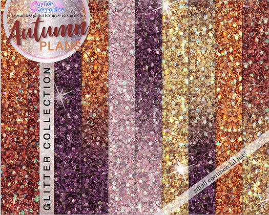 Autumn glitter digital paper collection
