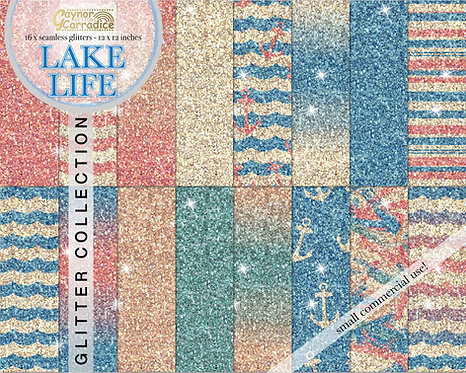 Lake life glitter backgrounds