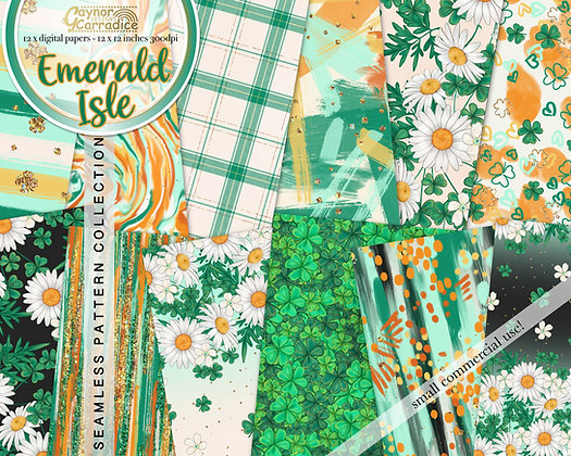 Emerald Isle Digital Papers
