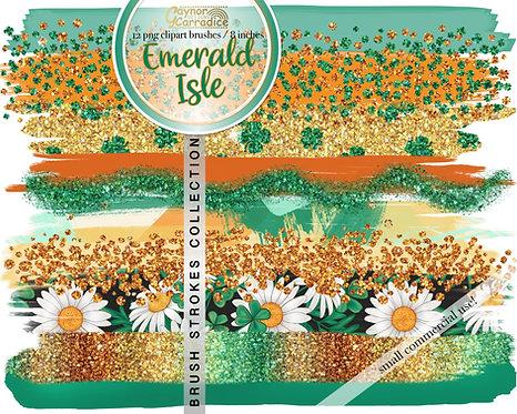 Emerald Isle Brush Strokes