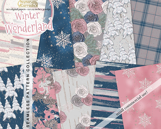 Winter Fashion Digital Paper Collection