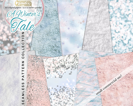 A Winter's Tale - Winter fairy tale basic seamless pattern collection