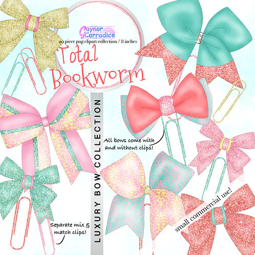 Total Bookworm Bow Clip collection