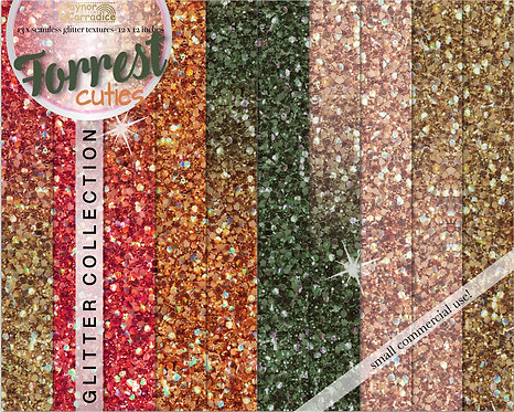 Forrest glitter digital paper collection