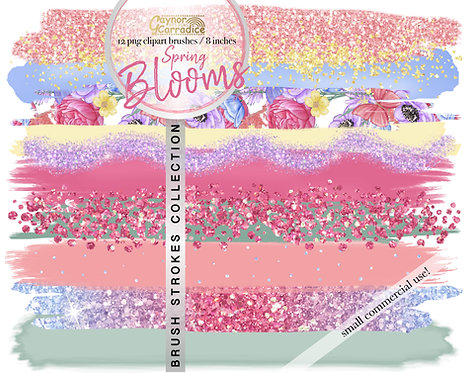 Spring Blooms -  Brush Strokes clipart collection