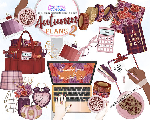 Autumn Planner Clipart Collection 2