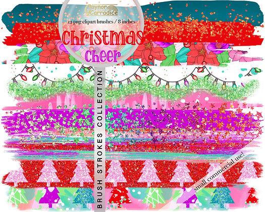 Christmas cheer brush strokes