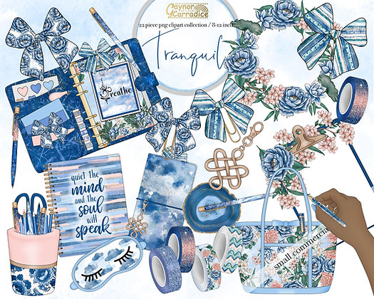 Tranquil planner clipart