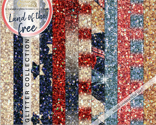 Land of the free - 4th July glitter backgrounds collection