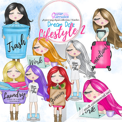 Dream Dollz, cute girl clipart collection, Lifestyle 2