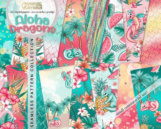 Aloha Dragons Digital Papers