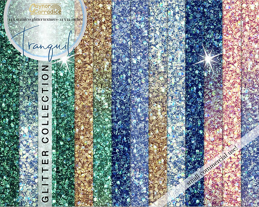 Tranquil glitter backgrounds