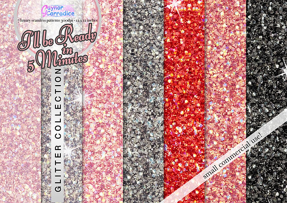 Beauty glitter digital paper collection