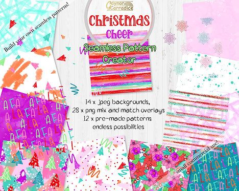 Christmas cheer seamless pattern creator