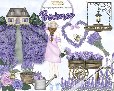 Spring provence clipart collection