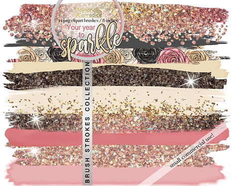 Your year to sparkle -  Brush Strokes clipart collection