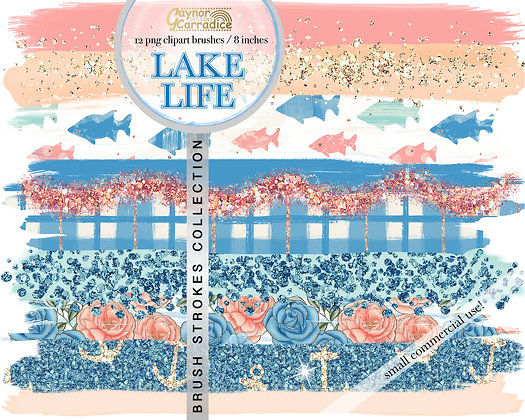 Lake life brush strokes