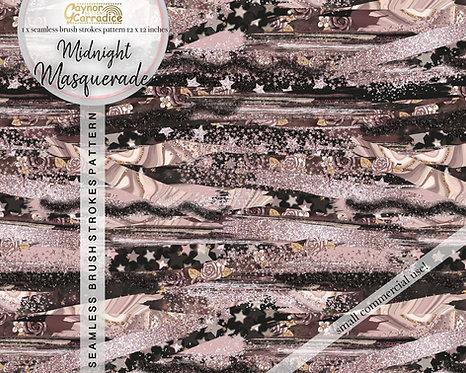 Midnight masquerade brush strokes pattern