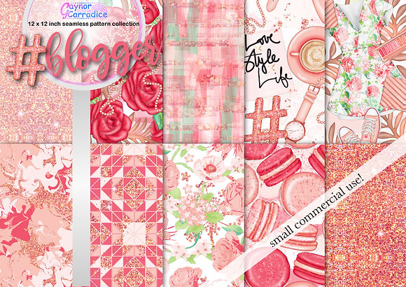 Blogger fashion digital paper collection