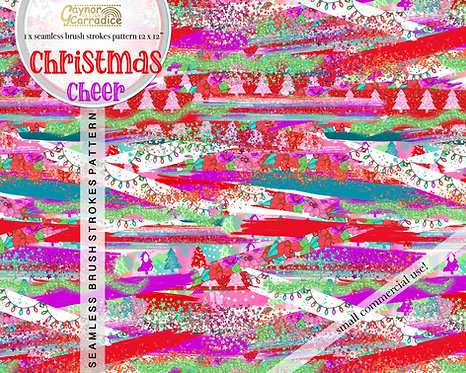 Christmas cheer brush strokes pattern
