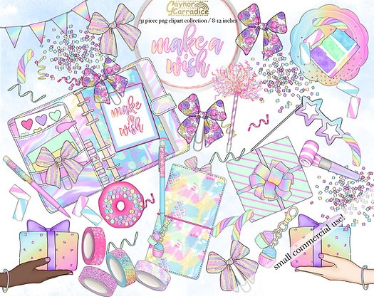 Make a wish planner clipart