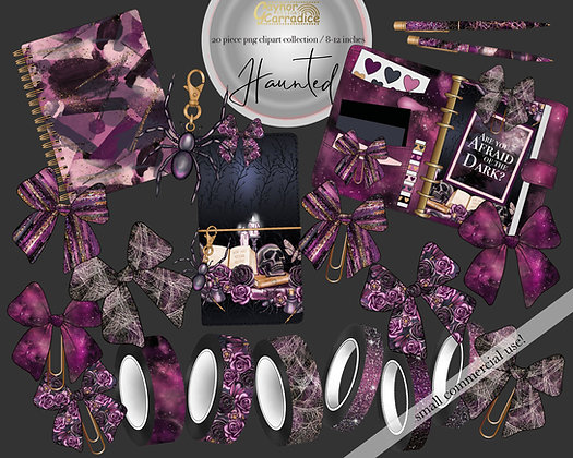 Haunted planner clipart
