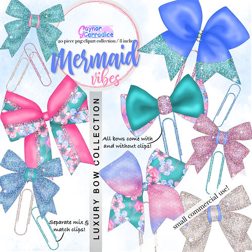 Mermaid Vibes Bow Clip collection